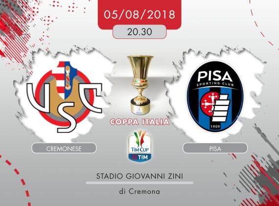 Cremonese-Pisa 5-7 dcr, tabellino e cronaca della sfida di TIM Cup