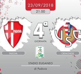 Padova-Cremonese 1-1, tabellino e cronaca