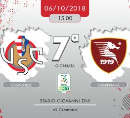 Cremonese-Salernitana 0-0, tabellino e cronaca