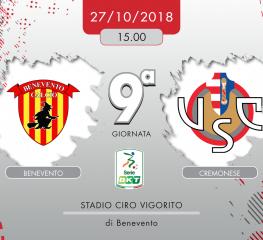 Benevento-Cremonese 2-1, tabellino e cronaca