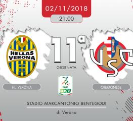 H. Verona-Cremonese 1-1, tabellino e cronaca
