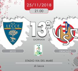 Lecce-Cremonese 2-0, tabellino e cronaca