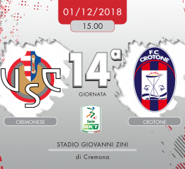 Cremonese-Crotone 1-0, tabellino e cronaca