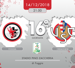Foggia-Cremonese 3-1, tabellino e cronaca