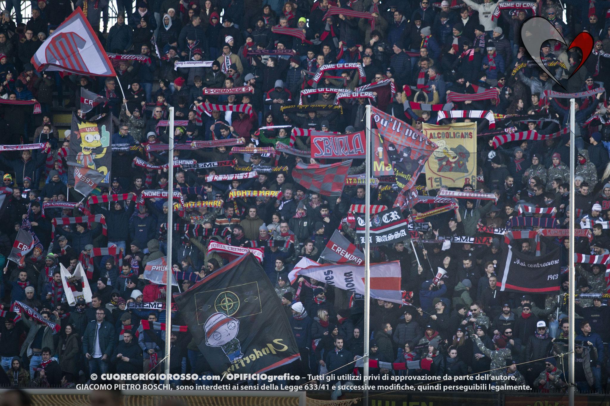 Cremonese-Cittadella, le foto dei tifosi