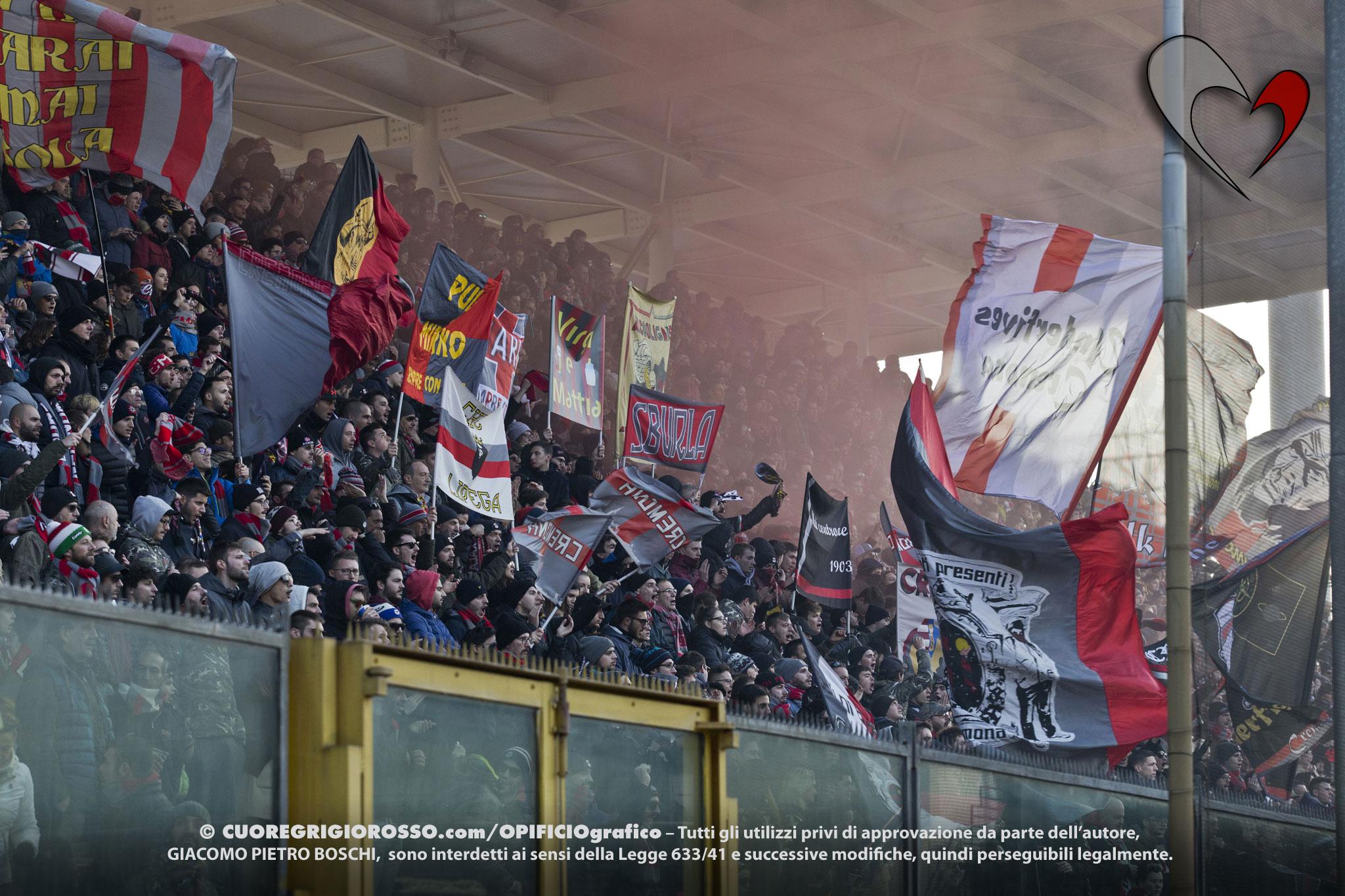 Cremo senza tifo per la partita contro il Perugia