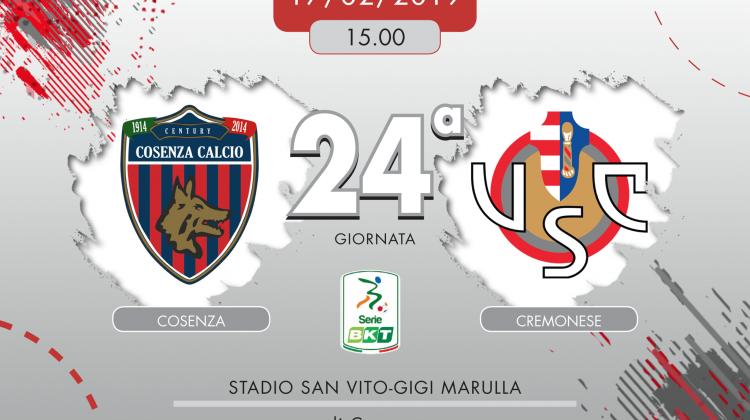 Cosenza-Cremonese 2-0, tabellino e cronaca
