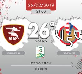 Salernitana-Cremonese 2-0, tabellino e cronaca
