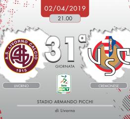 Livorno-Cremonese 1-3, tabellino e cronaca