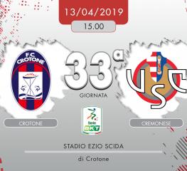 Crotone-Cremonese 0-0, tabellino e cronaca