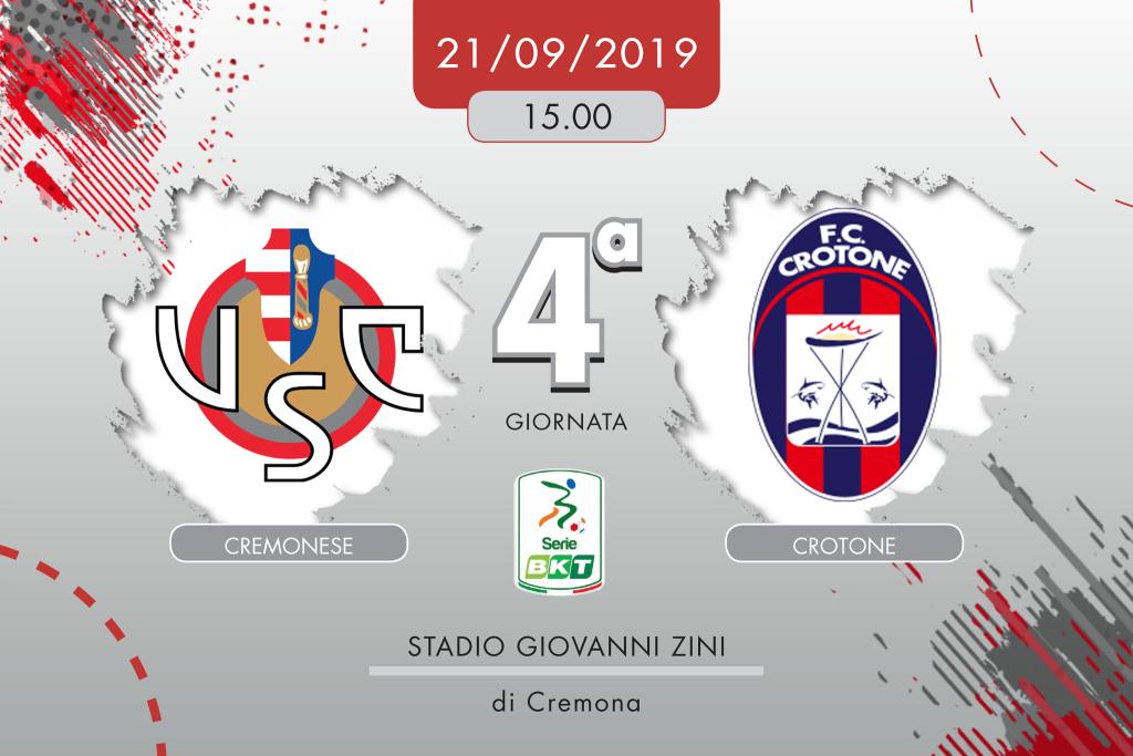 Cremonese-Crotone 2-1, tabellino e cronaca