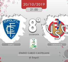 Empoli-Cremonese 1-1, tabellino e cronaca