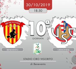 Benevento-Cremonese 2-0, tabellino e cronaca
