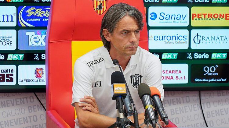 Benevento, Inzaghi: «Fermiamoci, salute al primo posto»