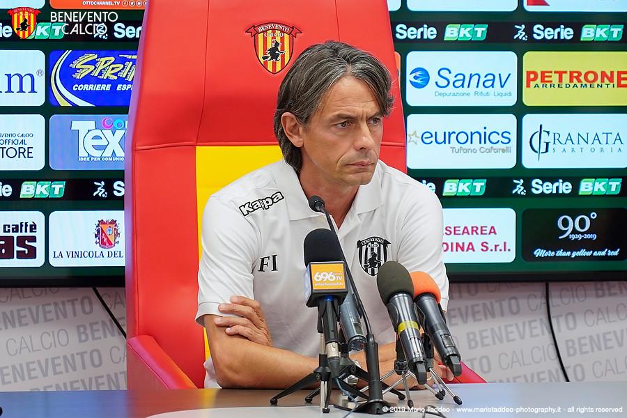 Benevento, Inzaghi: «Cremonese squadra migliore del campionato»