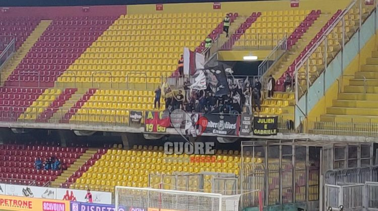 Benevento-Cremonese, le foto dei tifosi