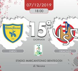 Chievo-Cremonese 1-0, tabellino e cronaca