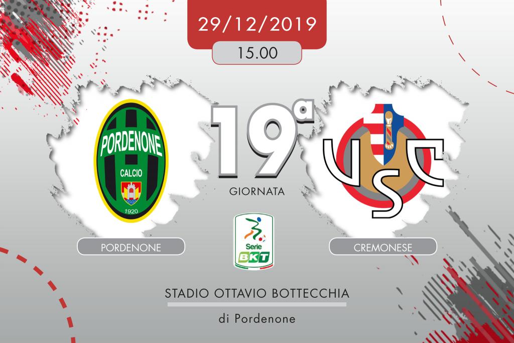 Pordenone-Cremonese 1-0, tabellino e cronaca