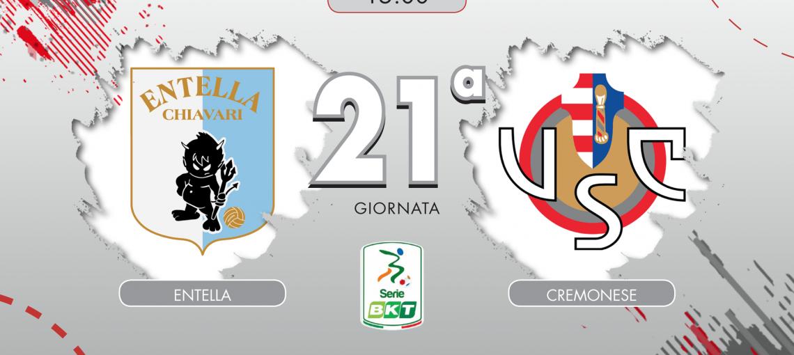 LIVE Entella-Cremonese dalle 15 su CuoreGrigiorosso.com