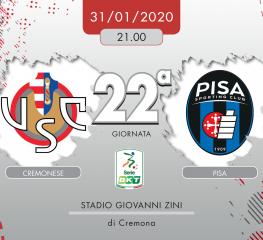 Cremonese-Pisa 3-4, tabellino e cronaca