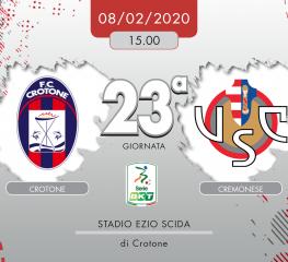 Crotone-Cremonese 1-0, tabellino e cronaca