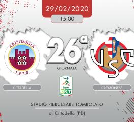 Cittadella-Cremonese 0-0, tabellino e cronaca