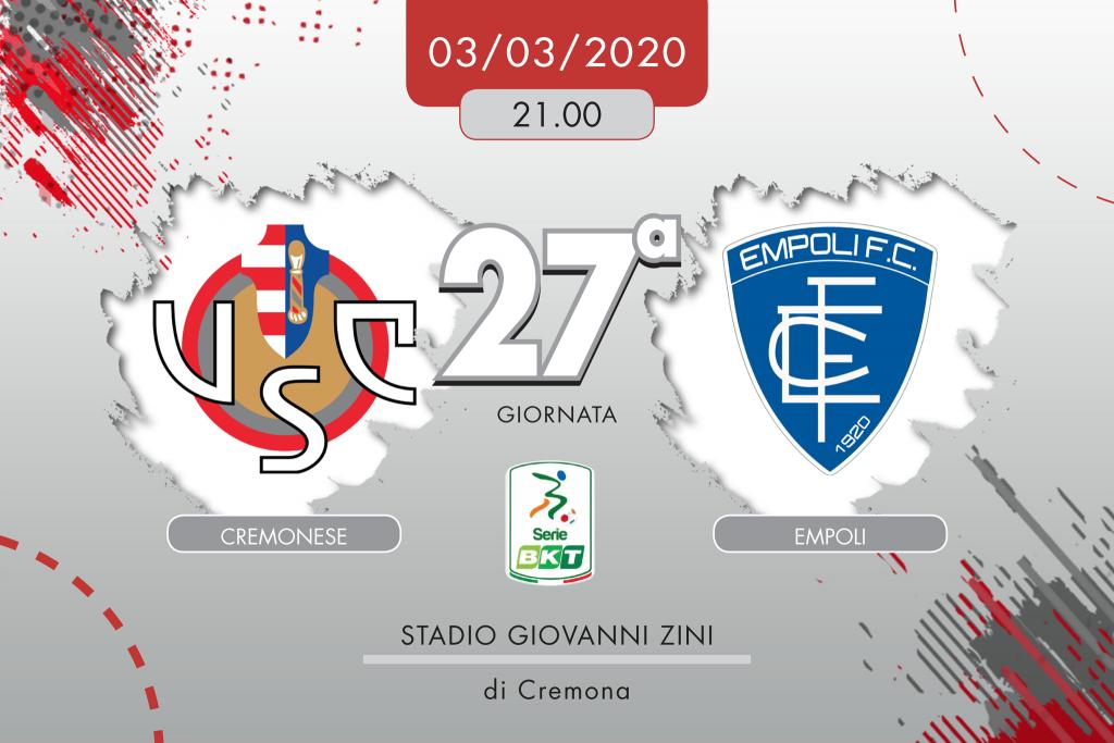 Cremonese-Empoli 2-3, tabellino e cronaca