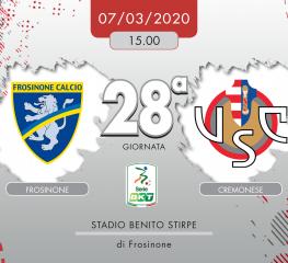 Frosinone-Cremonese 0-2, tabellino e cronaca