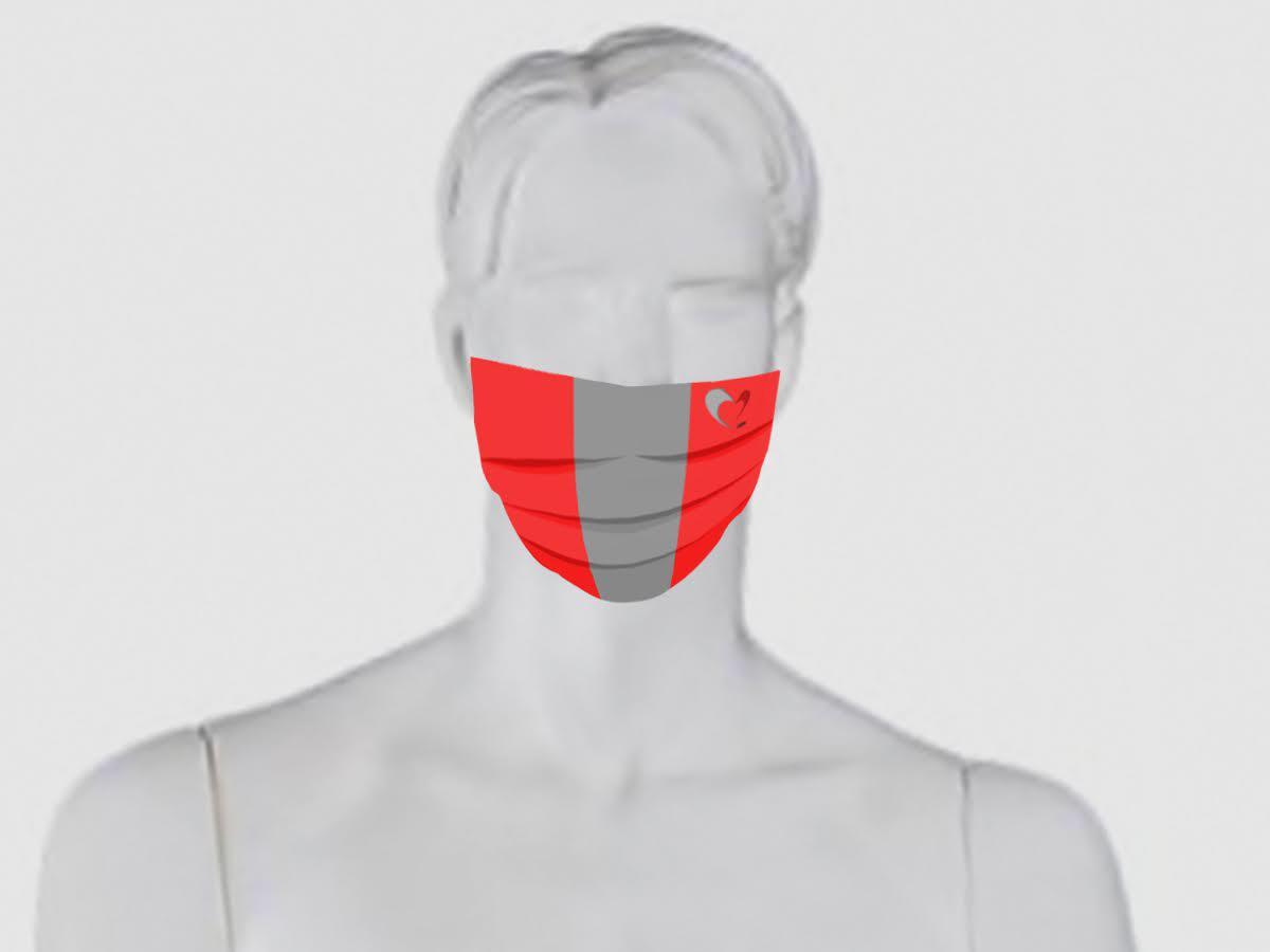 modello mascherina grigiorossa cuoregrigiorosso.com