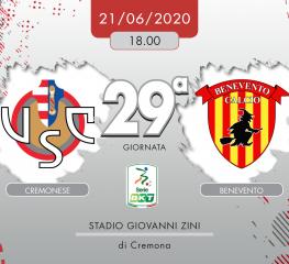 Cremonese-Benevento 0-1, tabellino e cronaca