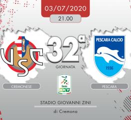 Cremonese-Pescara 1-0, tabellino e cronaca
