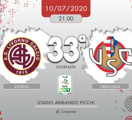 Livorno-Cremonese 1-2, tabellino e cronaca