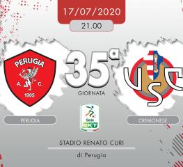 Perugia-Cremonese 0-0, tabellino e cronaca