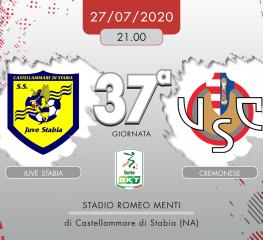 Juve Stabia-Cremonese 1-2, tabellino e cronaca