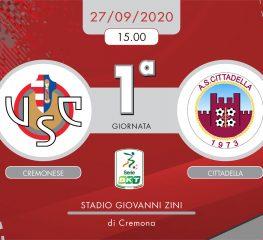 Cremonese-Cittadella 0-2, tabellino e cronaca