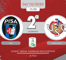 Pisa-Cremonese 1-1, tabellino e cronaca