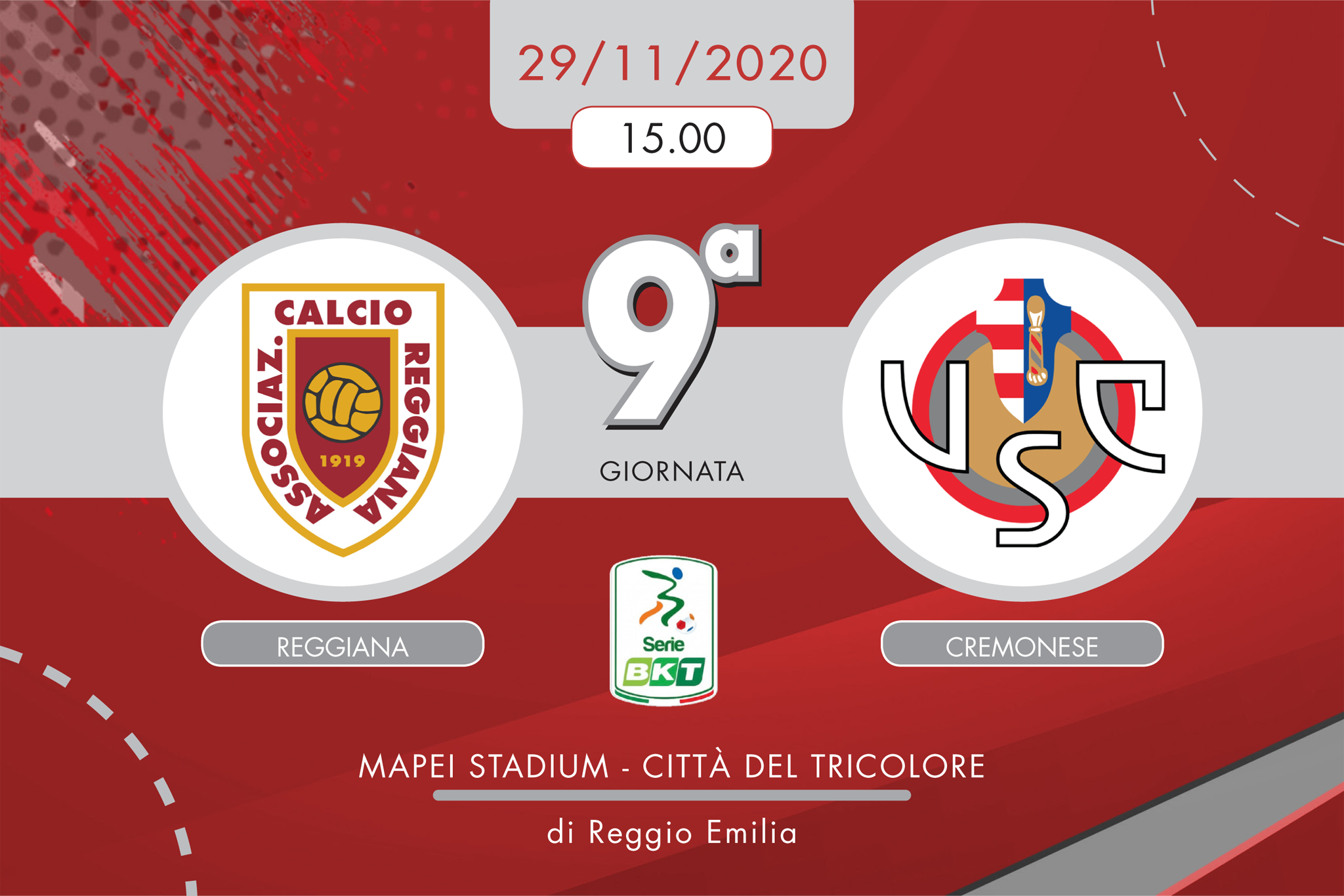 LIVE Reggiana-Cremo 1-0, dentro Pinato