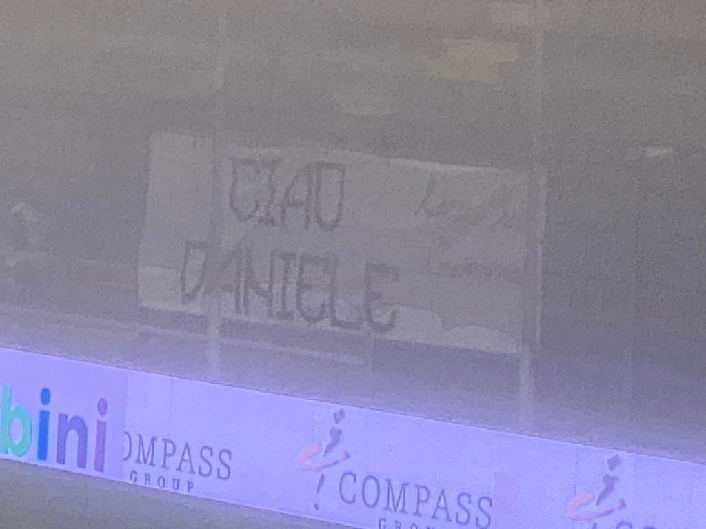 Cremo-Vicenza, curva e capitani omaggiano Daniele