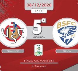 Cremonese-Brescia 2-2, tabellino e cronaca