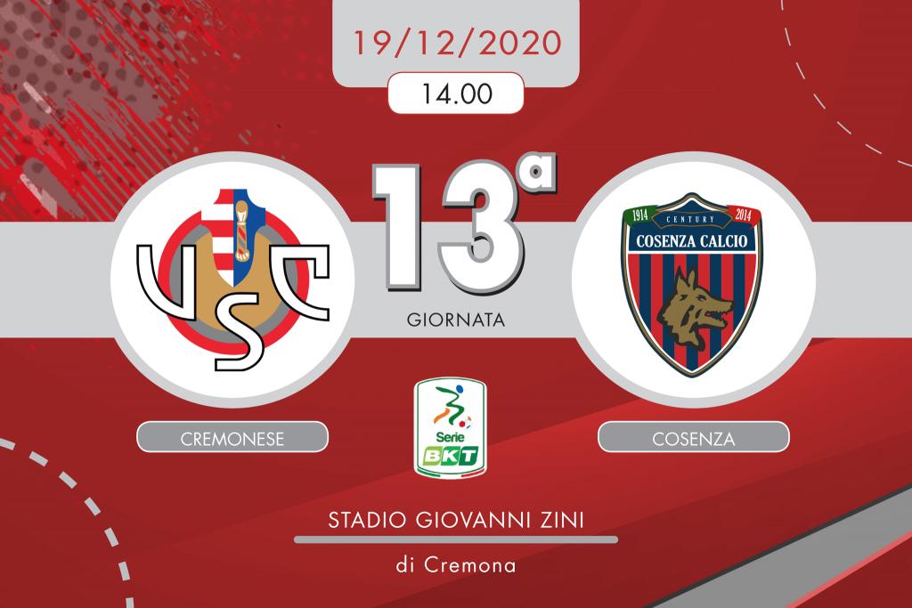 Cremonese-Cosenza 1-0, tabellino e cronaca