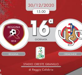 Reggina-Cremonese 1-0, tabellino e cronaca
