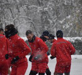 Cremo, primo allenamento sotto la neve [FOTO]
