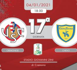 Cremonese-Chievo 0-2, tabellino e cronaca