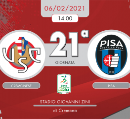 Cremonese-Pisa 2-1, tabellino e cronaca