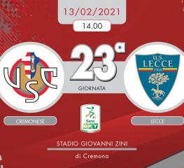 Cremonese-Lecce 1-2, tabellino e cronaca