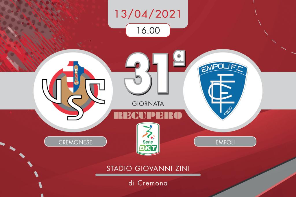 Cremonese-Empoli 2-2, tabellino e cronaca
