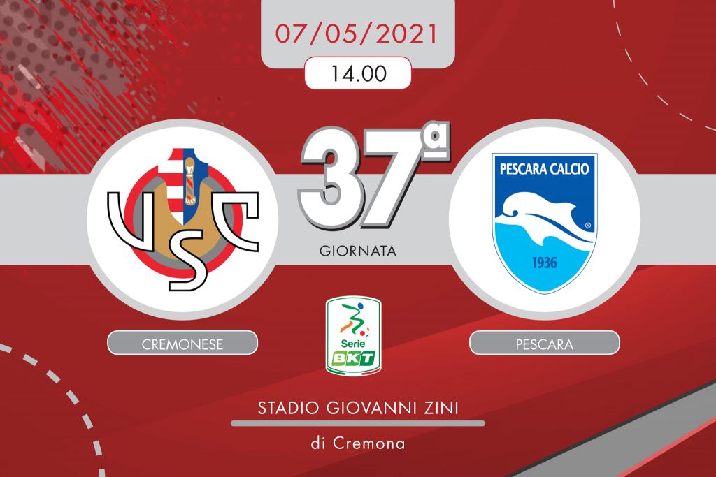 Cremonese-Pescara 3-0, tabellino e cronaca