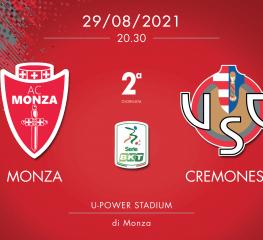 Monza-Cremonese 1-0, tabellino e cronaca