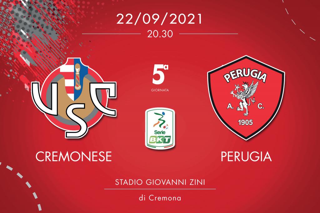 Cremonese-Perugia 0-3, tabellino e cronaca