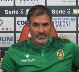 Ternana, Lucarelli: «Complimenti Cremo, ma risultato ingiusto»
